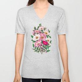 Wild roses Unisex V-Neck