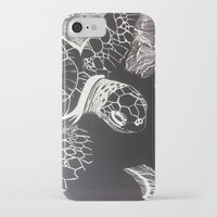 turtle iPhone & iPod Cases featuring Turtle by Wellydog