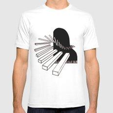 Piano Mens Fitted Tee MEDIUM White