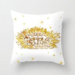 Glorious Summer of York - Richard III Quote Art  Throw Pillow
