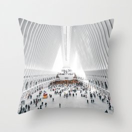 the oculus new york city Throw Pillow