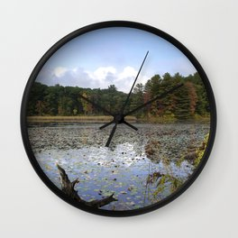 Lily Lake Landscape Wall Clock
