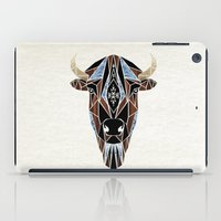 bison iPad Cases featuring bison by Manoou
