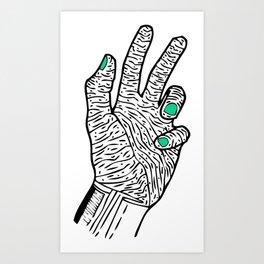 OLD BEAUTY HAND Art Print