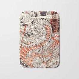 Japanese tattoo Typhoon dragon Bath Mat