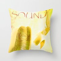 sound Throw Pillows featuring Sound by Fine2art
