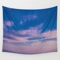 trippy Wall Tapestries featuring Trippy Sky by Marie Carr