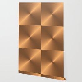 CIRCULAR BRUSHED COPPER  Wallpaper
