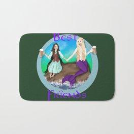 Hobbit and Mermaid Friends Bath Mat