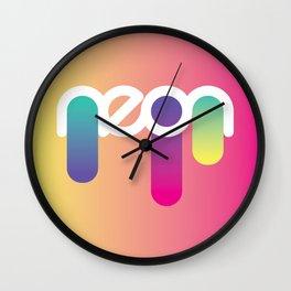 neon flow Wall Clock