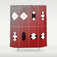panda Shower Curtains featuring PANDA  by ARCHIGRAF