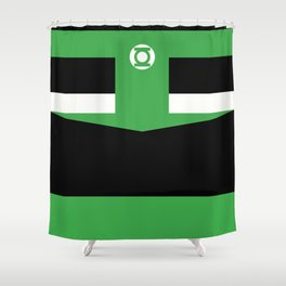 green lantern Shower Curtain