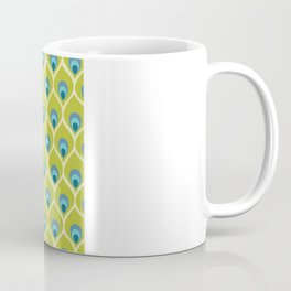 Modern Peacock Feather Blue Green Abstract Pattern Coffee Mug