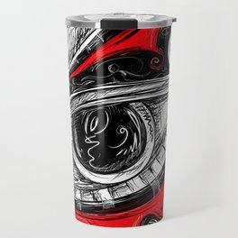 The Red tears  Prints Travel Mug