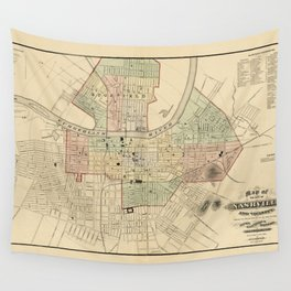 Map of Nashville 1877 Wall Tapestry