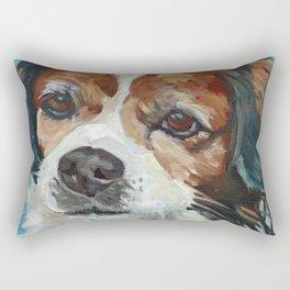 Beautiful Sophie Pup Portrait Rectangular Pillow
