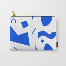 Abstract Minimal Shapes 02 - Pattern Modern Texture Fun Blue. Gift idea Home deco Carry-All Pouch
