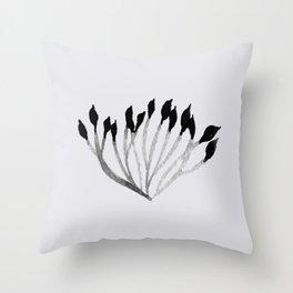 Baesic Mono Floral (Leaf 3) Throw Pillow