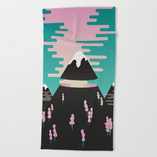 Enchanted mountains Beach Towel