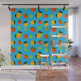 Happy citrus pattern Wall Mural