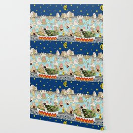 Snow Monkeys in Hot Spa Wallpaper