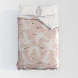 Soaring Wings - Blush Pink Comforters