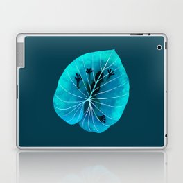 Aqua Tropical Frog On A Leaf Laptop & iPad Skin