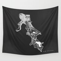 new orleans Wall Tapestries featuring NEW ORLEANS  by Nicksman