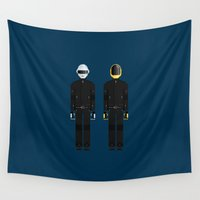 daft punk Wall Tapestries featuring Daft Punk   Famous Costumes by Fred Birchal