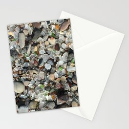 Sea glass beach in Fort Bragg Stationery Cards