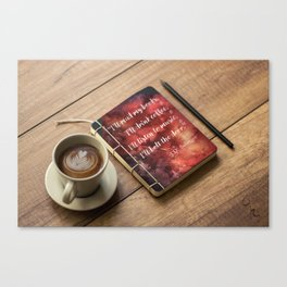Coffee, Journal, & JD Salinger Canvas Print