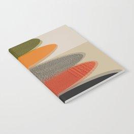 Mid-Century Modern Ovals Abstract Notebook
