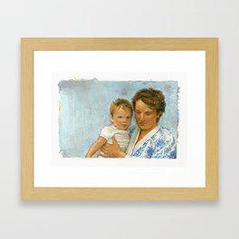 mother and child 2 Framed Art Print