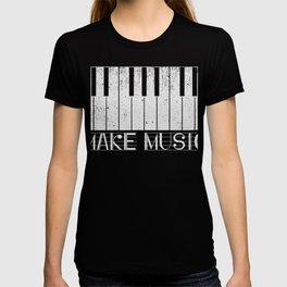 Make Music Classic Piano Pianist T-Shirt T-shirt