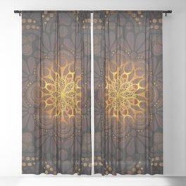 """Warm light Moroccan lantern Mandala"" Sheer Curtain"