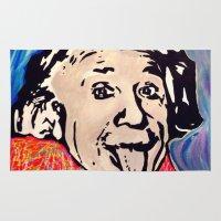 einstein Area & Throw Rugs featuring Einstein by Paola Gonzalez