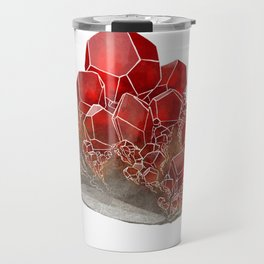 Garnet- January birthstone crystal gemstone specimen painting Travel Mug