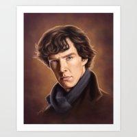 benedict cumberbatch Art Prints featuring Benedict Cumberbatch by Svenja Gosen