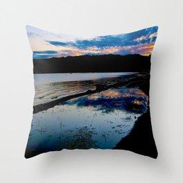Tranquil Morning - South Lake Tahoe Throw Pillow
