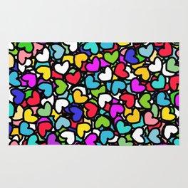 Rainbow LOVE Hearts Rug