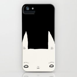rabbit very determined iPhone Case