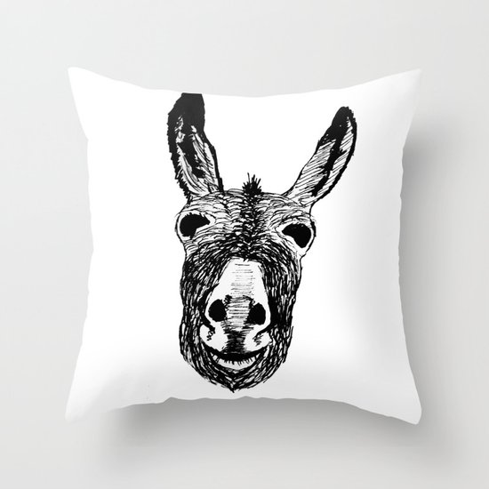 Wonky Donkey  Throw Pillow