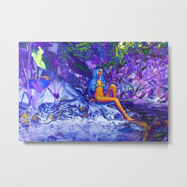 Stream Nymph Metal Print
