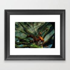 Forest Parkour  Framed Art Print