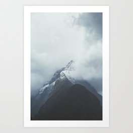 Milford Sound (Color) Art Print