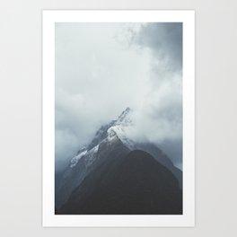 Milford Sound (Color) Art Print