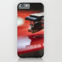 Red Vinyl iPhone Case