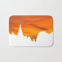 Sunset over London skyline bywhacky Bath Mat