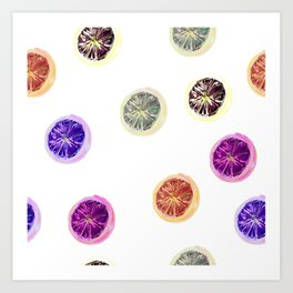 Psychedelic Citruses Art Print
