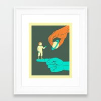 dreamer Framed Art Prints featuring Dreamer by Jazzberry Blue